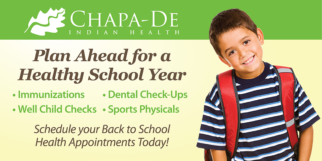 Back To School | Well Child Checks Chapa-De Indian Health Auburn Grass Valley | Medical Clinic